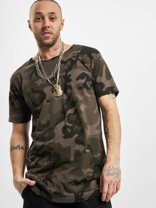Urban Classics T-shirt longoversize Camo Shaped Long camouflage