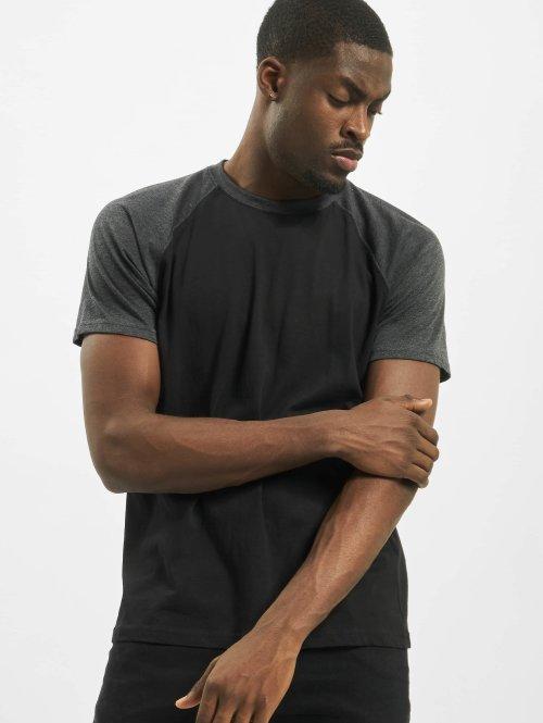 Urban Classics T-shirt Raglan Contrast nero