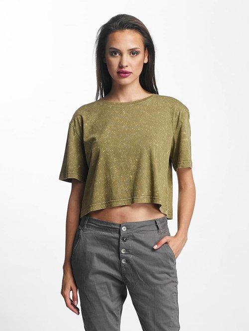 Urban Classics t-shirt Random Wash Short Oversize olijfgroen