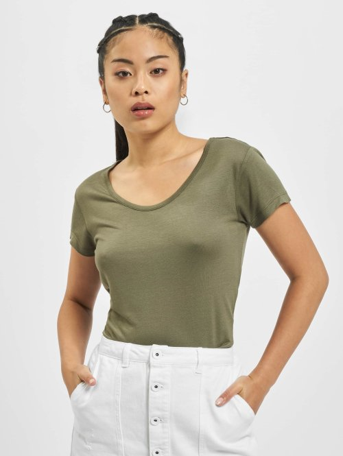 Urban Classics T-Shirt Ladies Basic Viscose olive