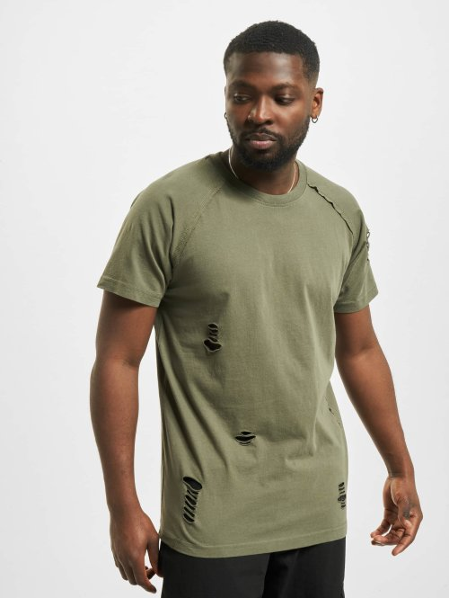 Urban Classics T-Shirt Ripped olive