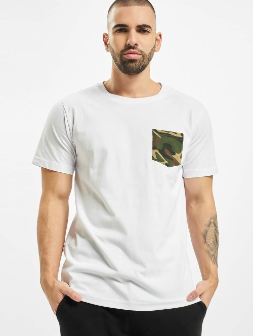 Urban Classics T-shirt Camo Pocket vit