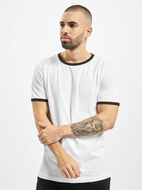 Urban Classics T-shirt Ringer vit
