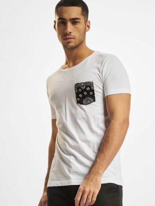 Urban Classics T-Shirt Contrast Pocket weiß