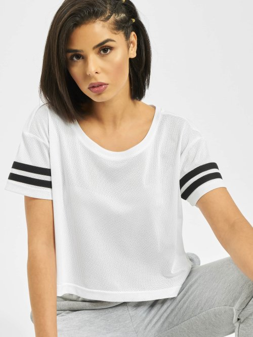 Urban Classics T-Shirt Mesh Short weiß