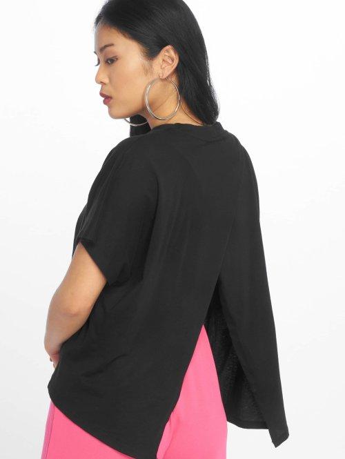 Urban Classics t-shirt Overlap Turtleneck zwart