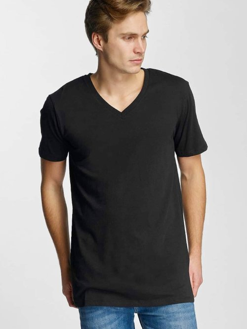 Urban Classics t-shirt Basic V-Neck zwart