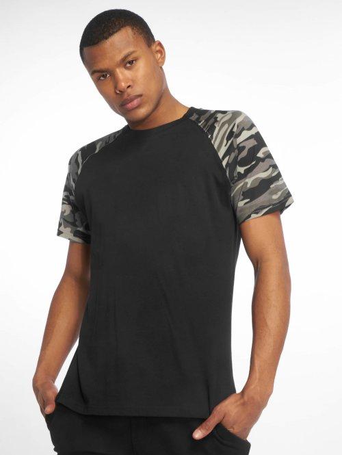 Urban Classics t-shirt Raglan Contrast zwart
