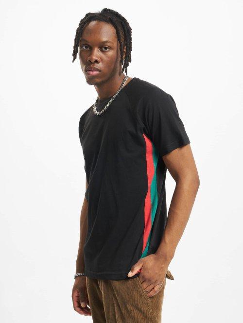 Urban Classics t-shirt Side Stripe Raglan zwart