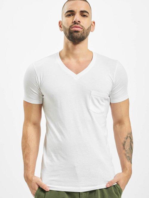 Urban Classics T-shirts Pocket hvid