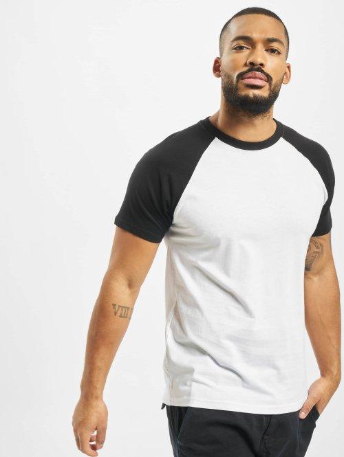 Urban Classics T-shirts Raglan Contrast hvid