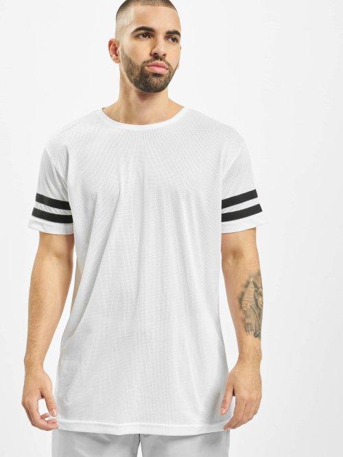Urban Classics T-shirts Stripe Mesh hvid