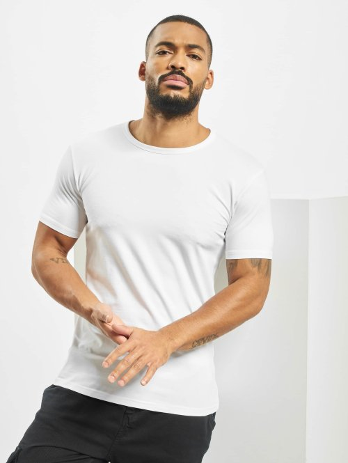 Urban Classics T-Shirty Fitted Stretch bialy
