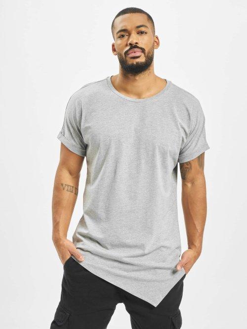 Urban Classics T-Shirty Asymetric Long szary
