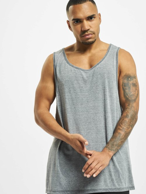 Urban Classics Tank Tops Burnout Jersey Big grau