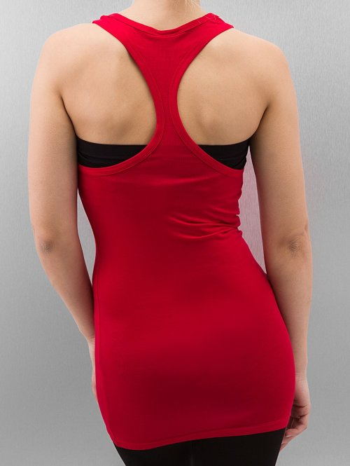 Urban Classics Tank Tops Fitted Viscon Racerback rot