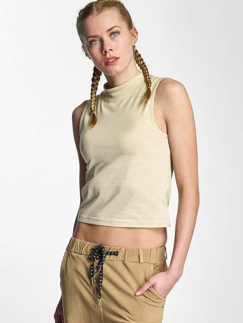 Urban Classics Tanktop Ladies Turtleneck beige