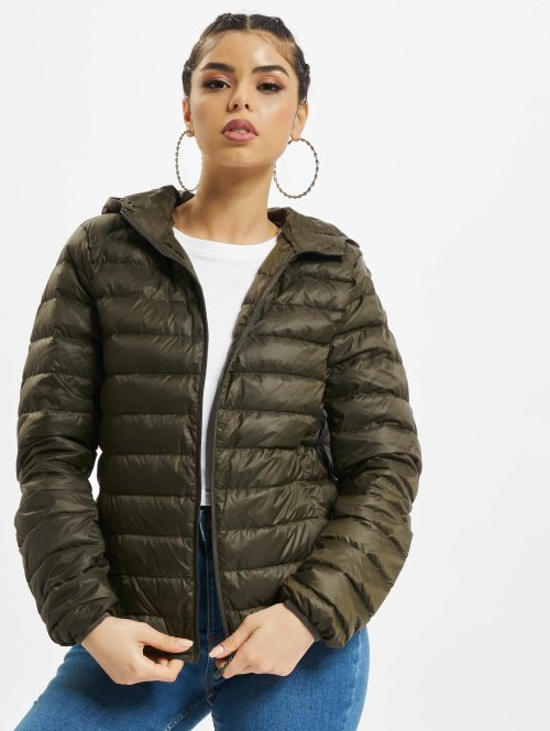 Urban Classics Übergangsjacke Basic Hooded Down olive