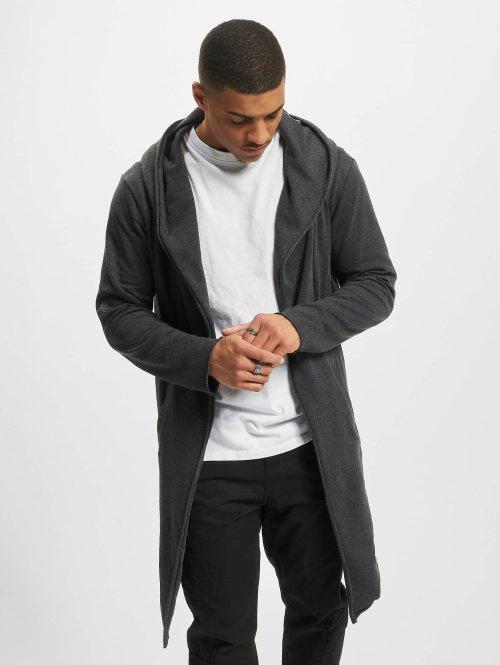 Urban Classics vest Long Hooded grijs