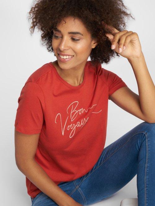 Vero Moda T-shirts vmValentina Midi rød