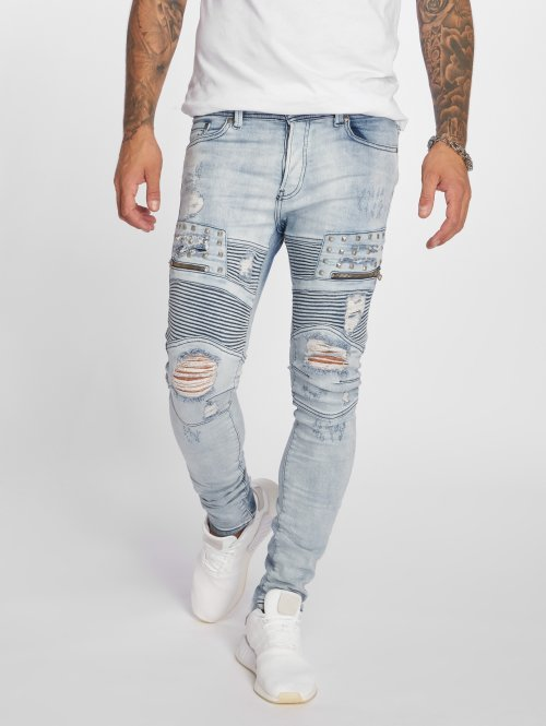 VSCT Clubwear Antifit New Liam Biker Denim blauw