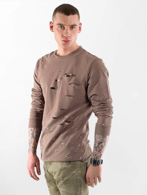 VSCT Clubwear Pullover Slashed braun