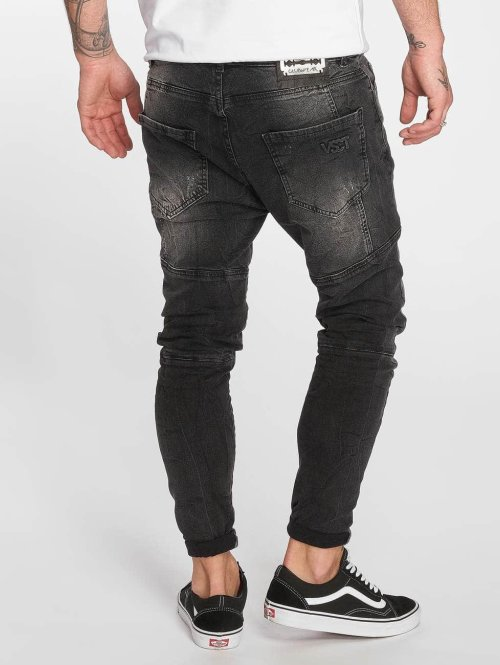 VSCT Clubwear Straight Fit Jeans Chase Heritage schwarz
