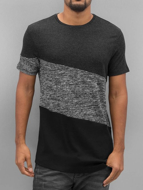 VSCT Clubwear T-Shirt Sate Mix Fabric grau