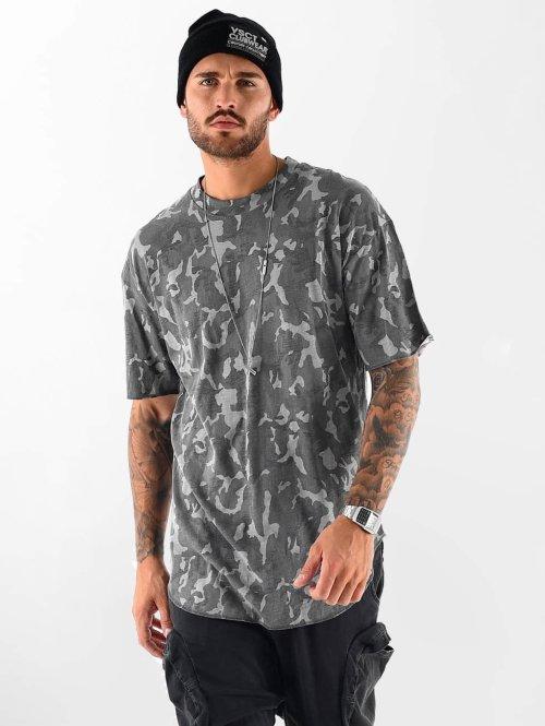 VSCT Clubwear T-shirt Camo Washed grigio
