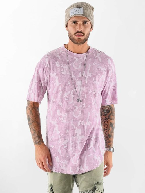 VSCT Clubwear T-shirt Camo Washed rosso