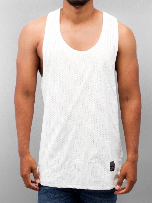 VSCT Clubwear Tank Tops Allover Leathermesh weiß