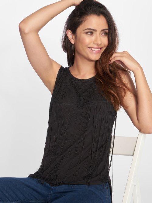 VSCT Clubwear Top Fringes schwarz