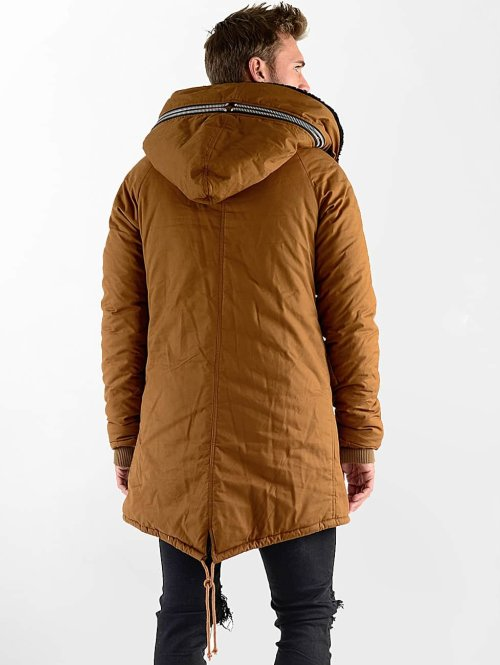 VSCT Clubwear Winterjacke Double-Zipper Huge Luxury braun
