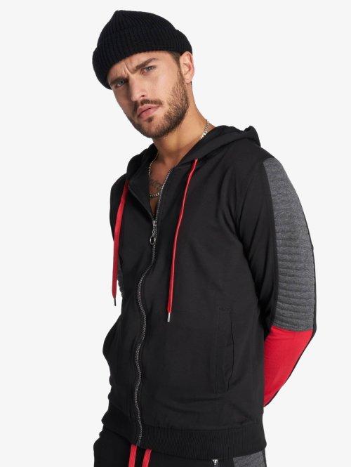 VSCT Clubwear Zip Hoodie Biker schwarz