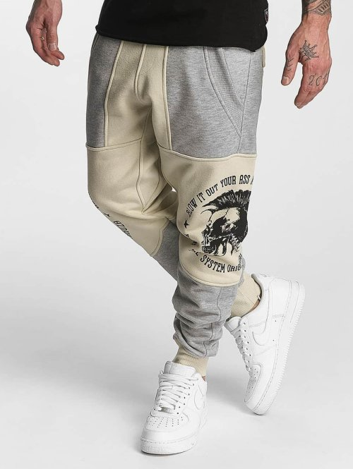 Yakuza joggingbroek Punx Two Face Antifit beige