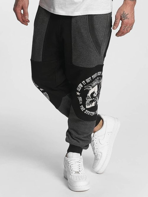 Yakuza joggingbroek Punx Two Face Antifit zwart