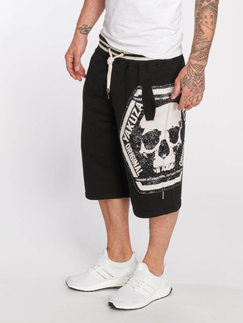 Yakuza shorts Skull Label zwart