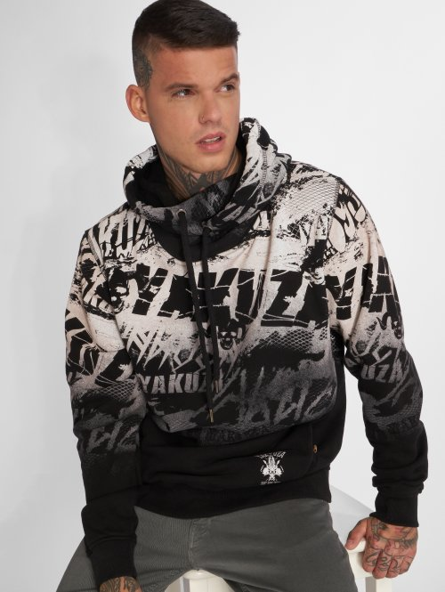 Yakuza Sweat capuche Crow noir