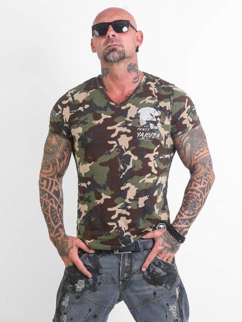 Yakuza T-Shirt Script Skull camouflage