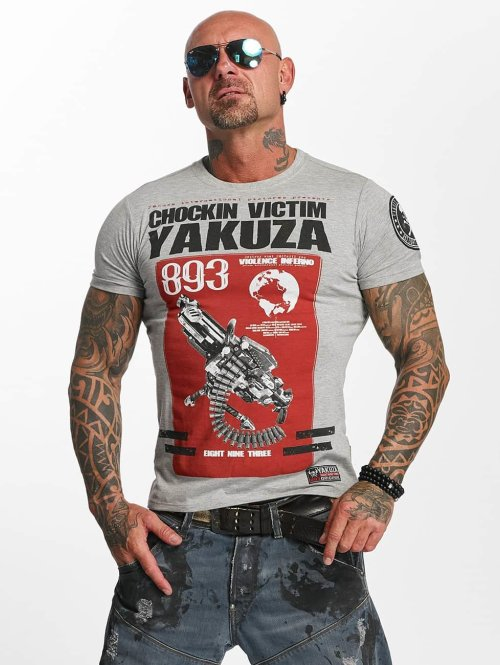 Yakuza t-shirt Chockin Victim grijs