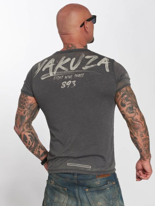 Yakuza t-shirt Burnout grijs