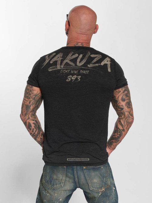 Yakuza T-Shirt Burnout noir