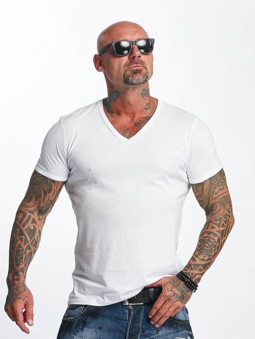 Yakuza t-shirt Basic Line V-Neck wit