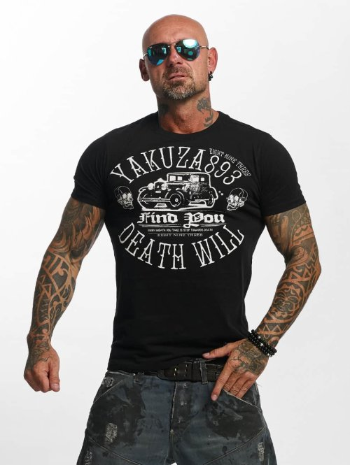 Yakuza t-shirt Death Will Find You zwart