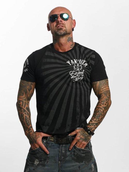 Yakuza t-shirt Expect No zwart