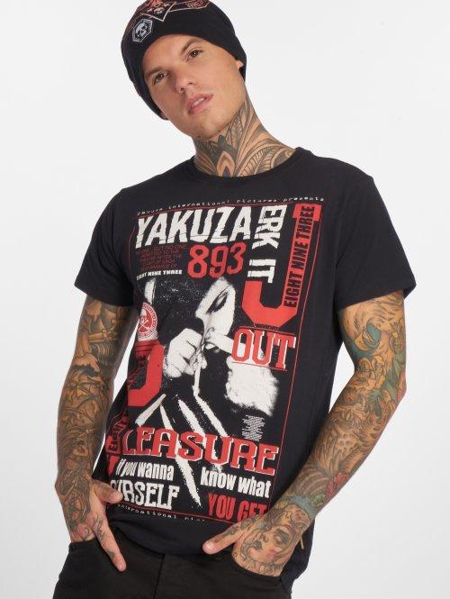 Yakuza t-shirt Jerk it out zwart