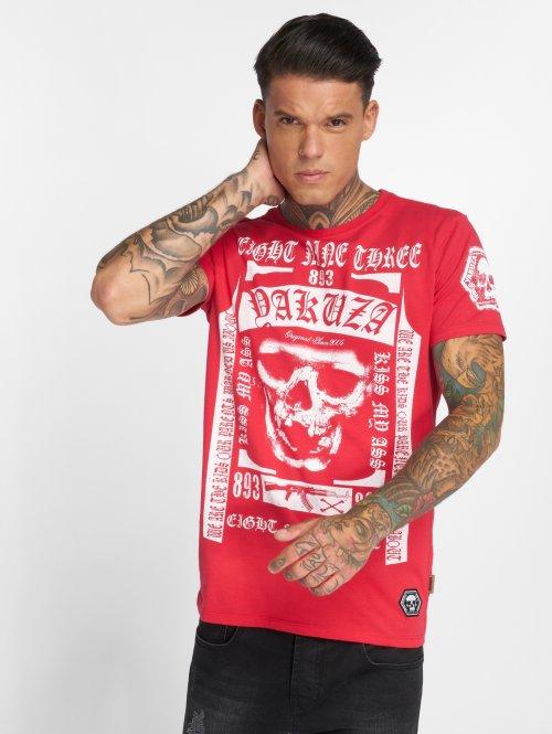 Yakuza T-shirts Kiss My XXX Two Face rød
