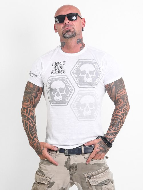 Yakuza T-Shirty Skull Collection bialy
