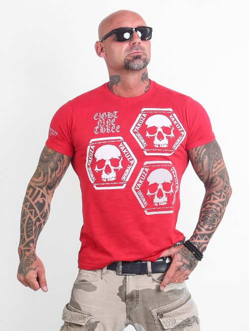 Yakuza T-Shirty Skull Collection czerwony