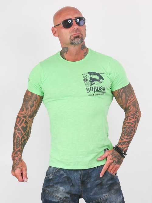 Yakuza T-Shirty Trojan zielony